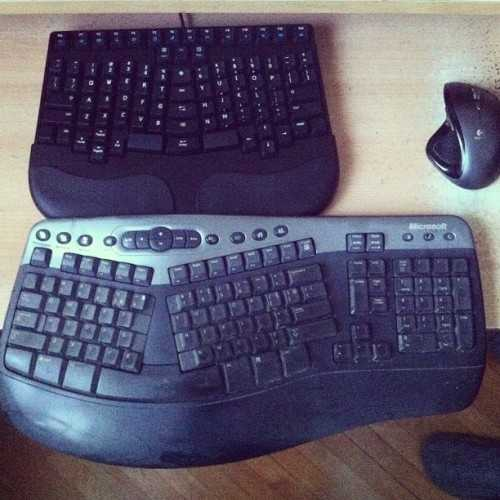 Old ergonomic compared to new
