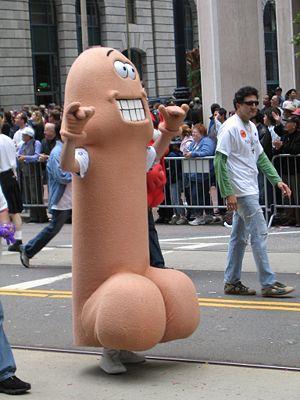 Walking penis. Gay pride parade, 2005.
