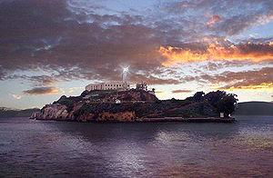 The lighthouse on Alcatraz Island, San Francis...