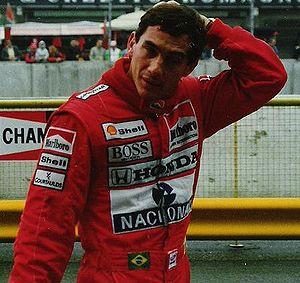 Defending champion Ayrton Senna won a second c...