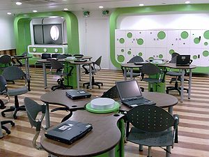picture of an e-learning classroom