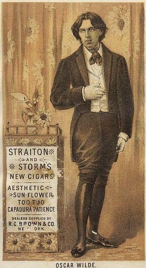 Trade card of a cigar dealer after a photograp...
