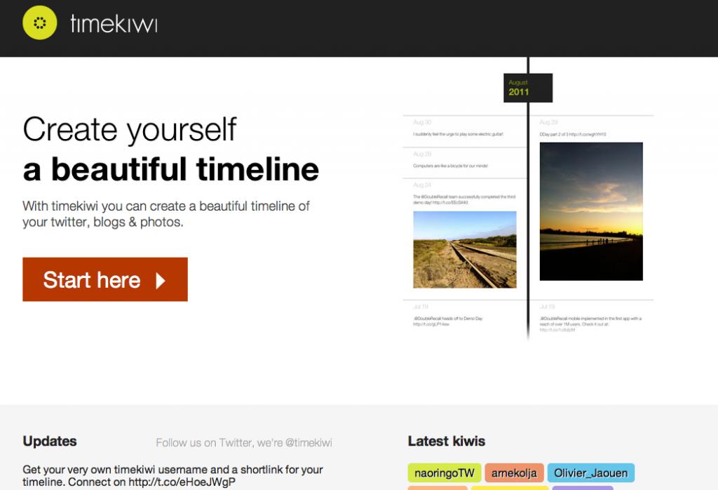 Timekiwi entry page