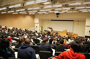 English: 5th floor lecture hall at Baruch Coll...