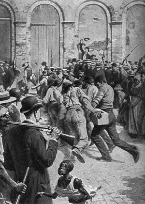 An episode of the lynching of the Italians in ...