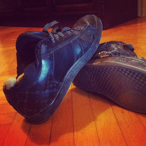 Shoes on their deathbed
