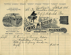 Invoice, Chas M Stieff Manufacturer of Grand &...