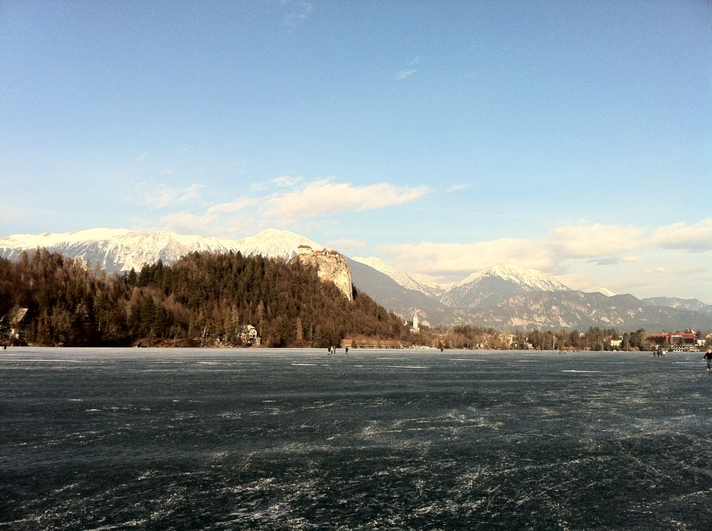 Not the usual view of Bled