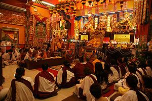 Teaching in Thekchen Choling
