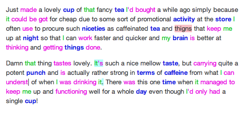 English syntax highlighting
