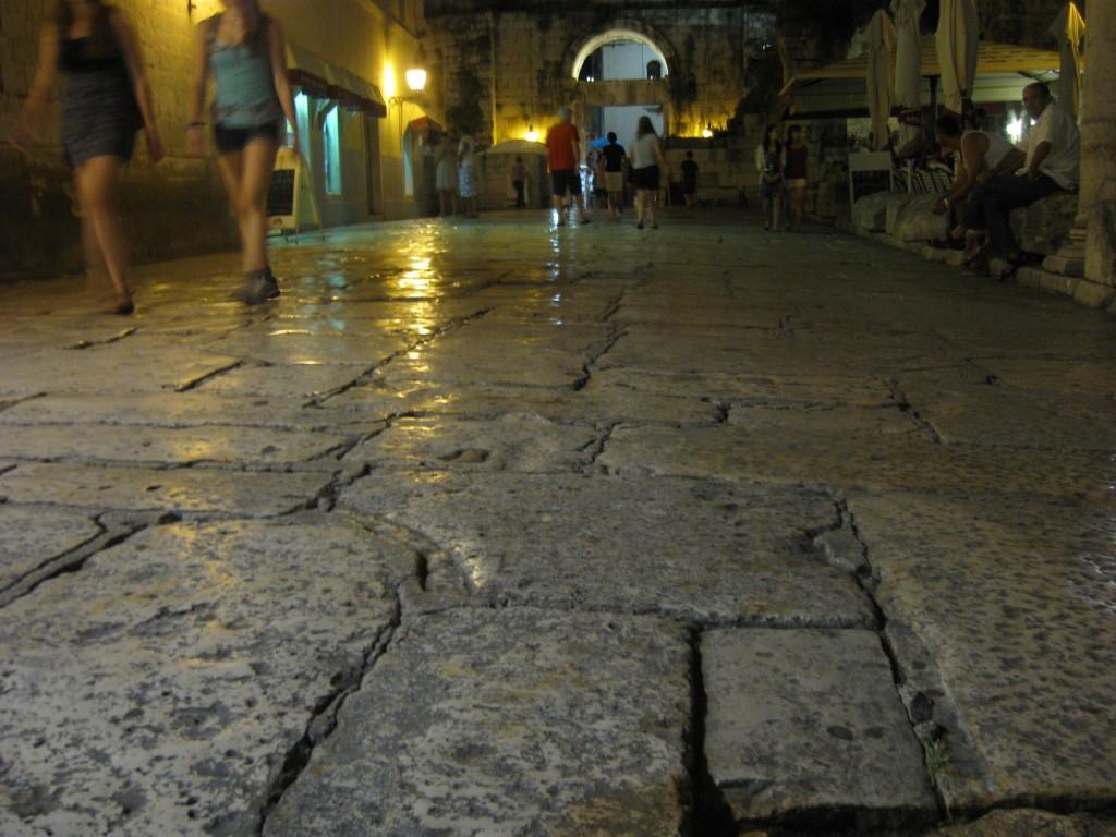 Split employs tourists to polish its floors
