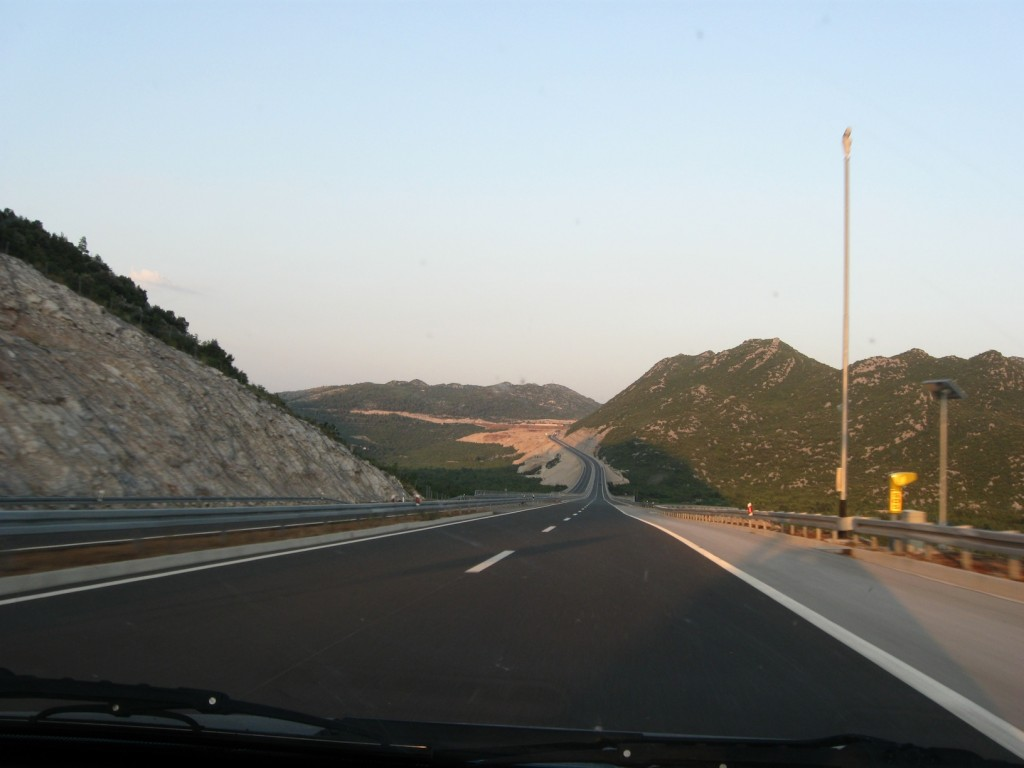 Highway towards Dubrovnik