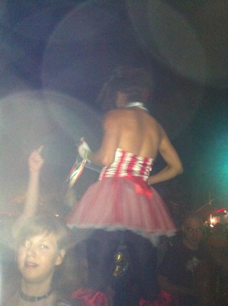 Girl on stilts!