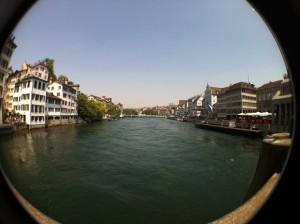 Zurich river fisheye