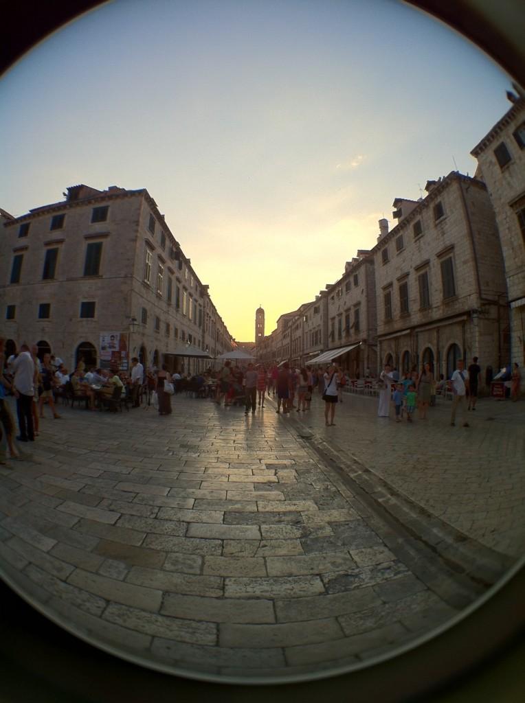 Sunset on the main street