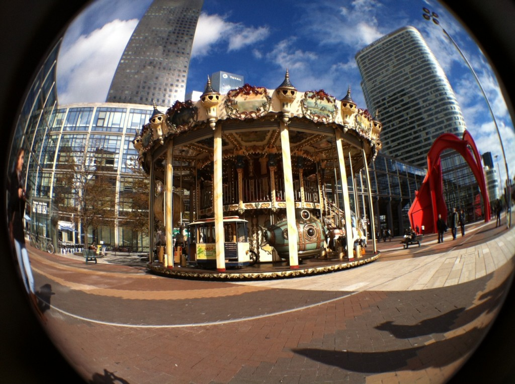 Carousel in the midst of the financial district