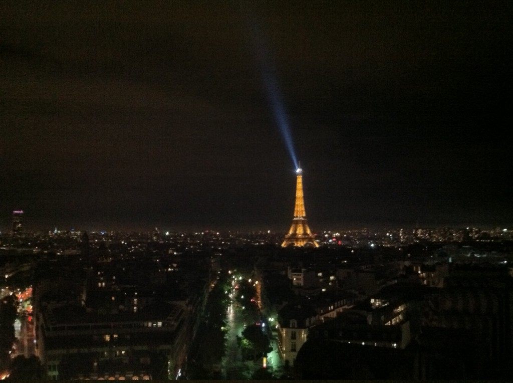 View of Eiffel tower from the Arc