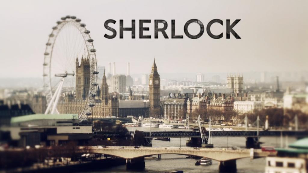 Sherlock title scene