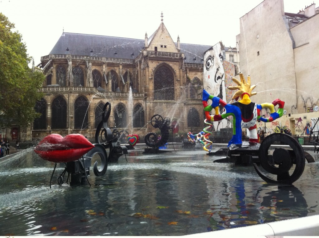 A water park thing near Pompidou