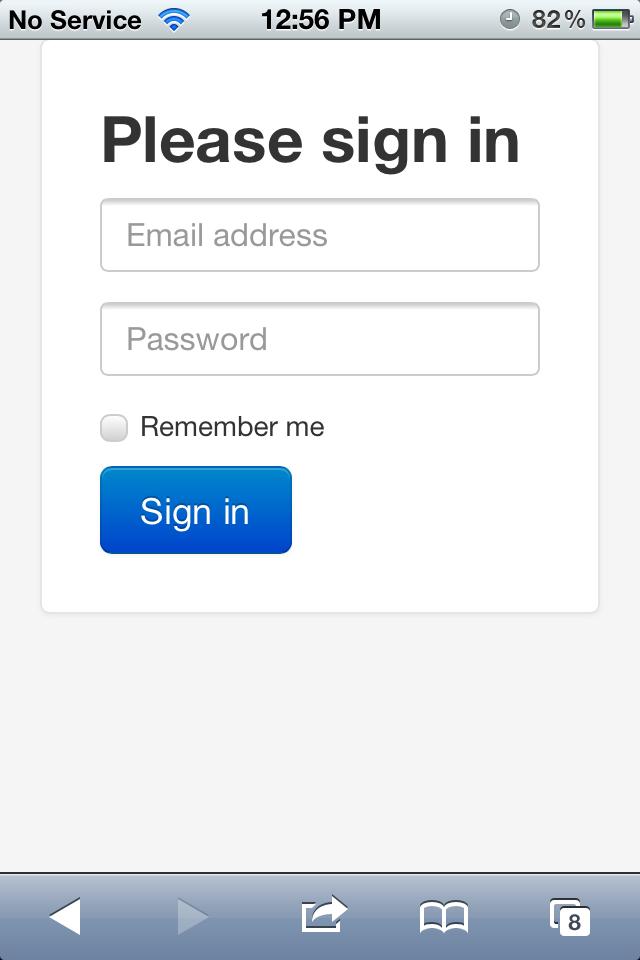 Final result - an app-like website
