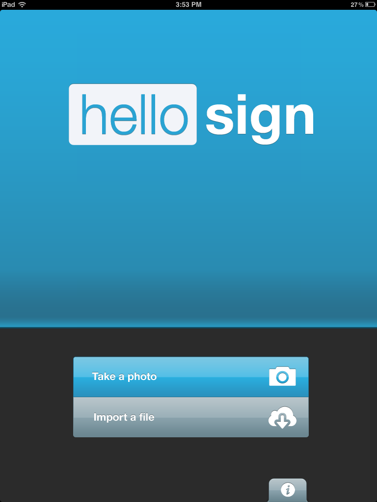 HelloSign on iPad