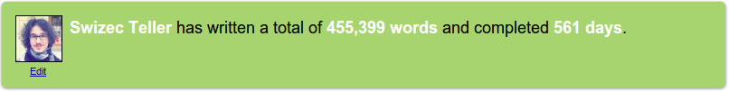 My 750words stats