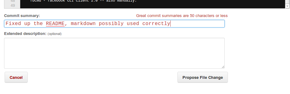 When we're done we can make a commit
