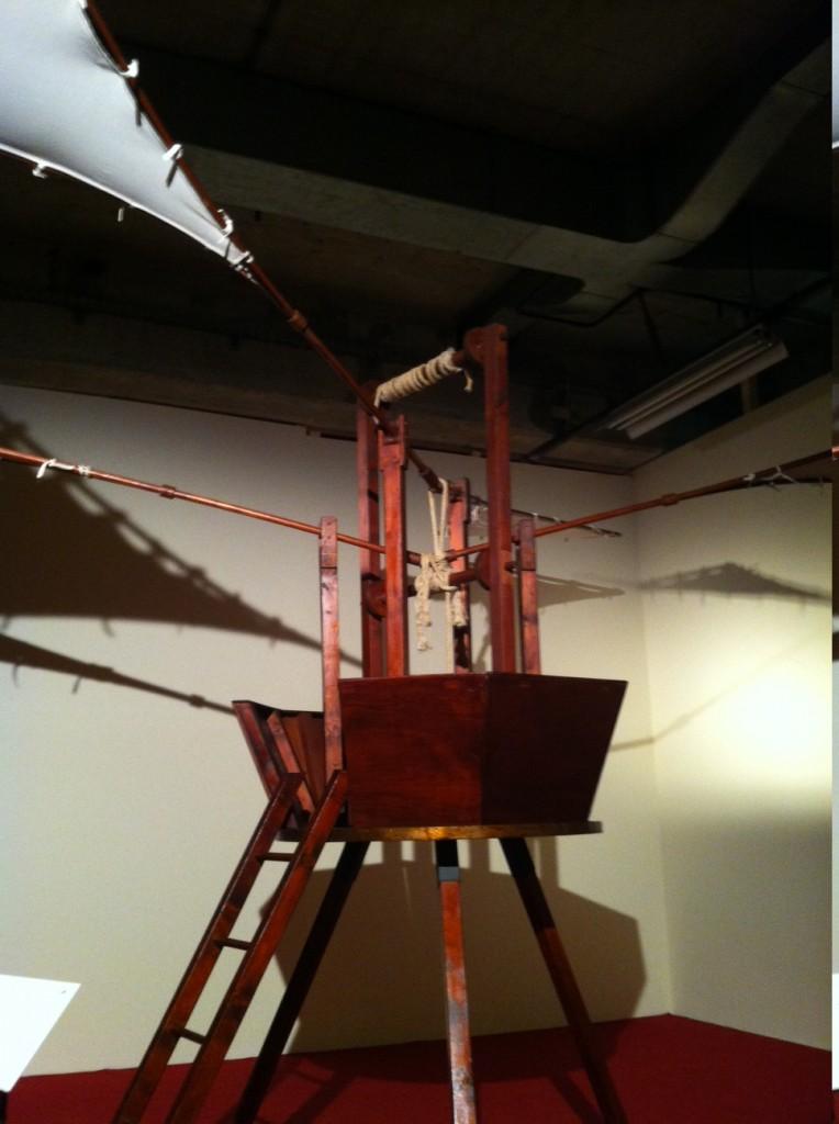 Da Vinci's wing flappy vertical takeoff machine.