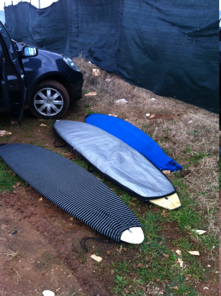 Surfboards, mine was the middle