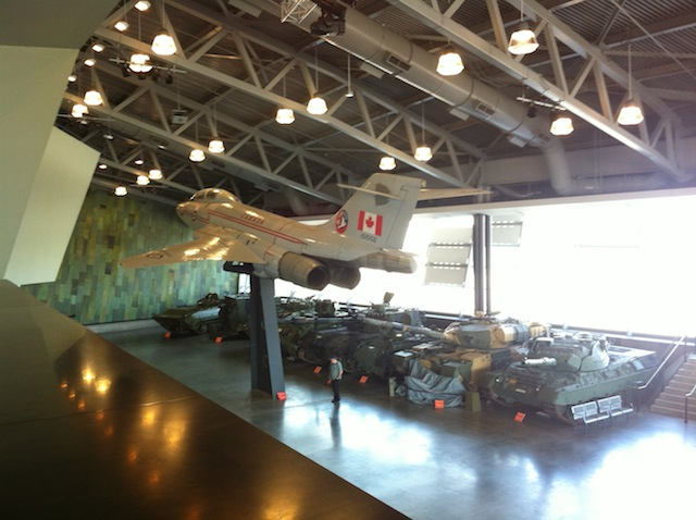 On Thursday I went to the War Museum where there was a jetfighter