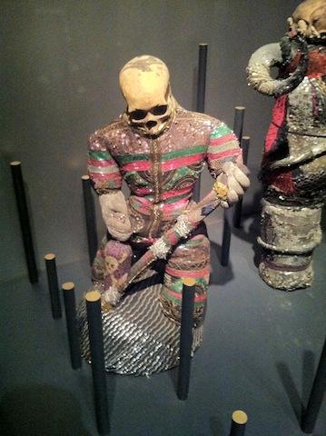 Voodoo exhibition with real human skulls