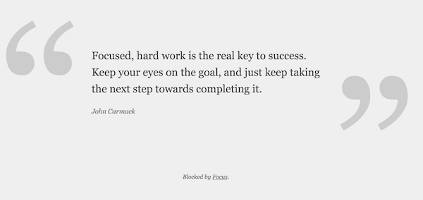 Focused, hard work is the real key to success.